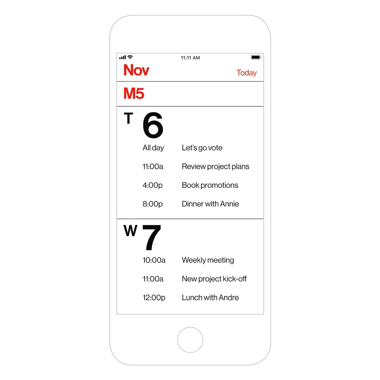 Rationale – Minimal Calendar released